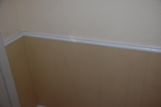 Weird Yellow Wainscoting