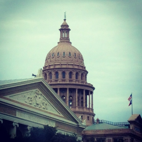 Back in Austin we drove by the Capitol building so the kids could see how massive it is. It's pretty impressive.