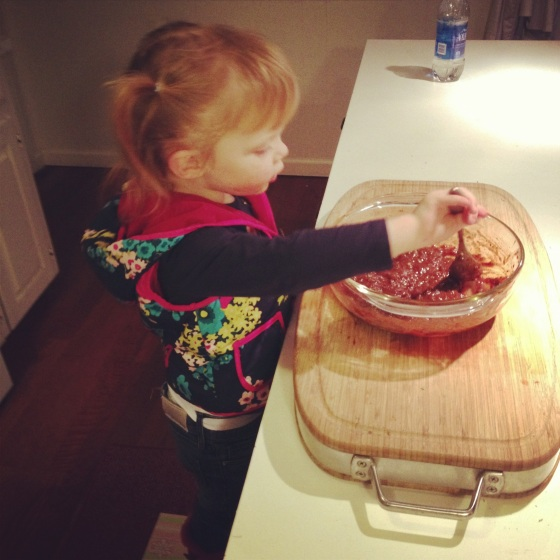 helping with dinner <3